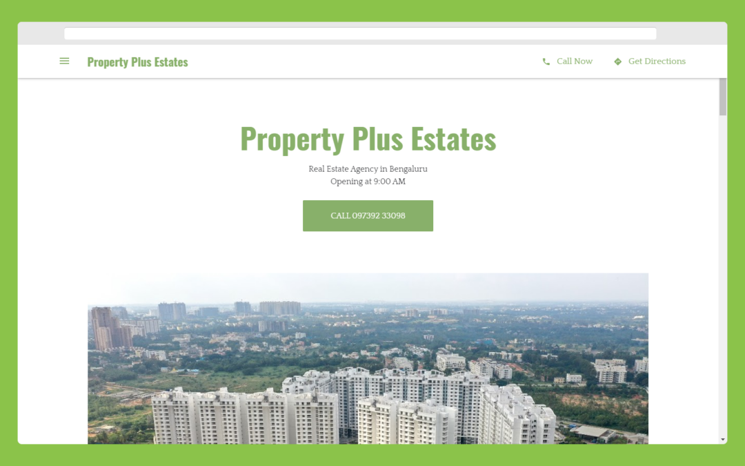 Property Plus estate homepage