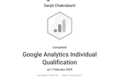 Google Analytics Individual Qualification Certificate 2020