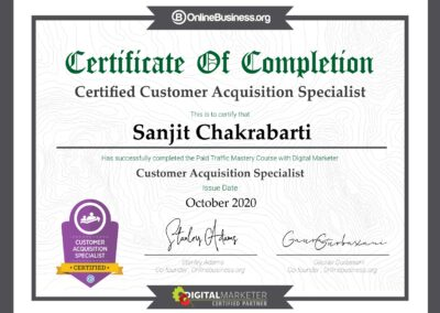 DigitalMarketer Certified Customer Acquisition Specialist (Paid Traffic Mastery)